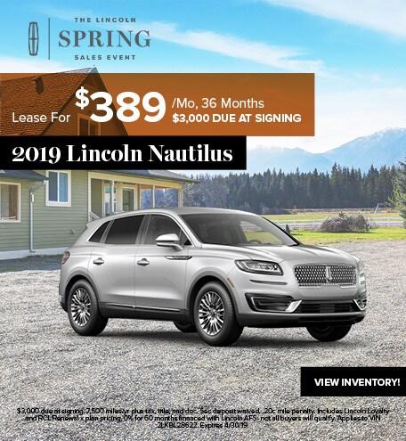 2019 Lincoln Nautilus April