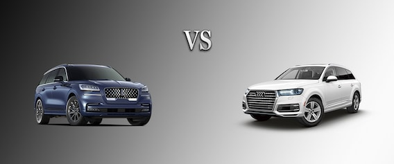 2020 Lincoln Aviator Vs 2019 Audi Q7 Lincoln Of Mayfield