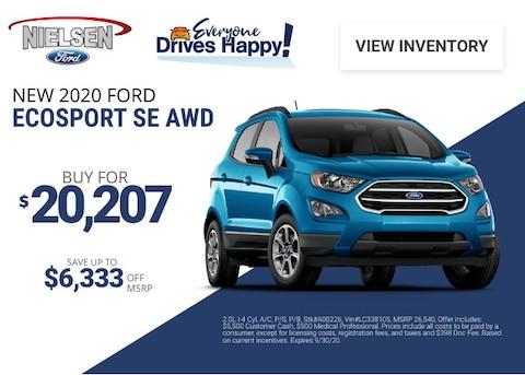 Ford EcoSport Deal - September 2020
