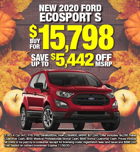 Ford EcoSport Purchase Special
