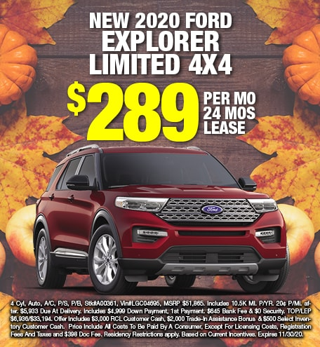 Ford Explorer Lease Special