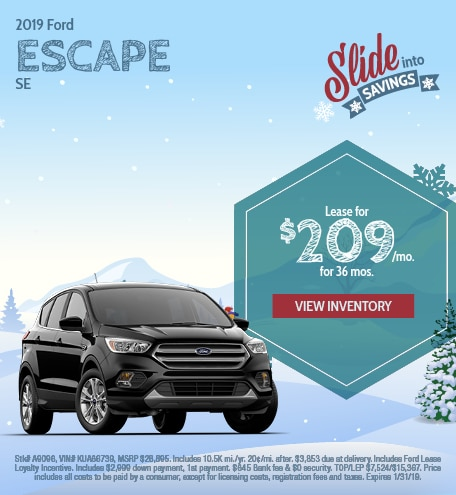 Ford Escape Lease Special