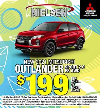 New 2021 Mitsubishi Outlander Sport 2.0 ES AWC Lease Offer
