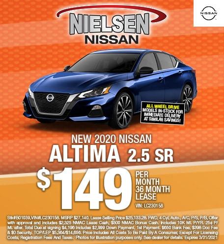 New 2020 Nissan Altima 2.5 SR Lease Offer