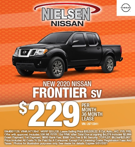 New 2020 Nissan Frontier SV Lease Offer