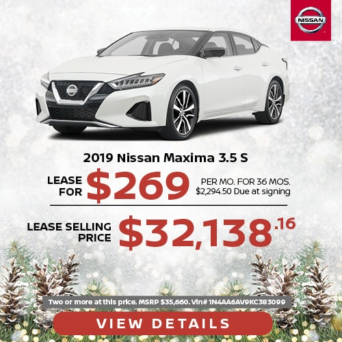 Lease a 2019 Nissan Maxima for $269/mo.