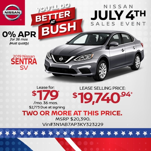 Lease a 2019 Nissan Sentra for $179/mo.