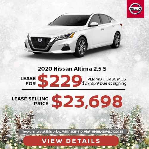 Lease a 2020 Nissan Altima for $229/mo.