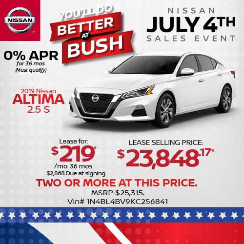 Lease a 2019 Nissan Altima for $219/mo.