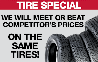 Tires, Tires, Tires!