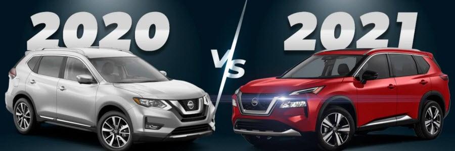 2021 Nissan Rogue versus 2020 Nissan Rogue