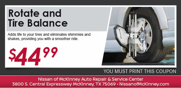 Tire Rotation And Balance Nissan Of Mckinney