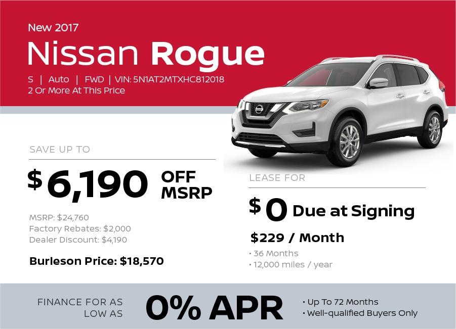 2017 Nissan Rogue Special in Burleson TX