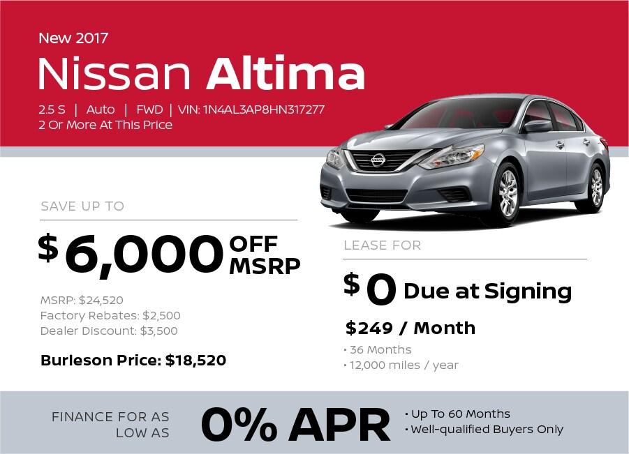 2017 Nissan Altima Special in Burleson TX