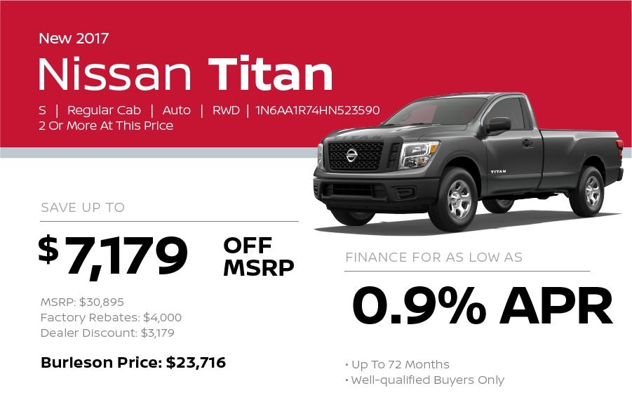 2017 Nissan Titan Special in Burleson TX