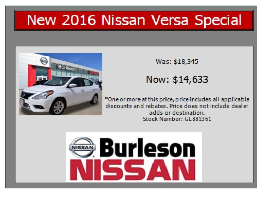 Nissan Of Burleson >> New Pre Owned Specials Burleson Tx Burleson Nissan