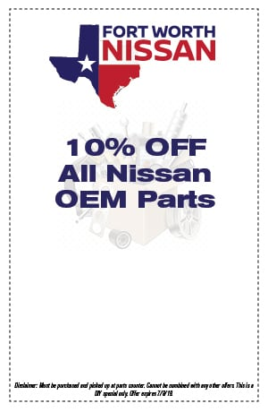 10% OFF All Nissan OEM Parts