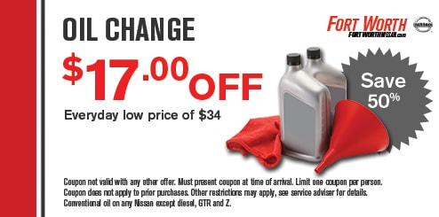 Get Nissan Oil Change Specials Amp Coupons In Fort Worth Tx