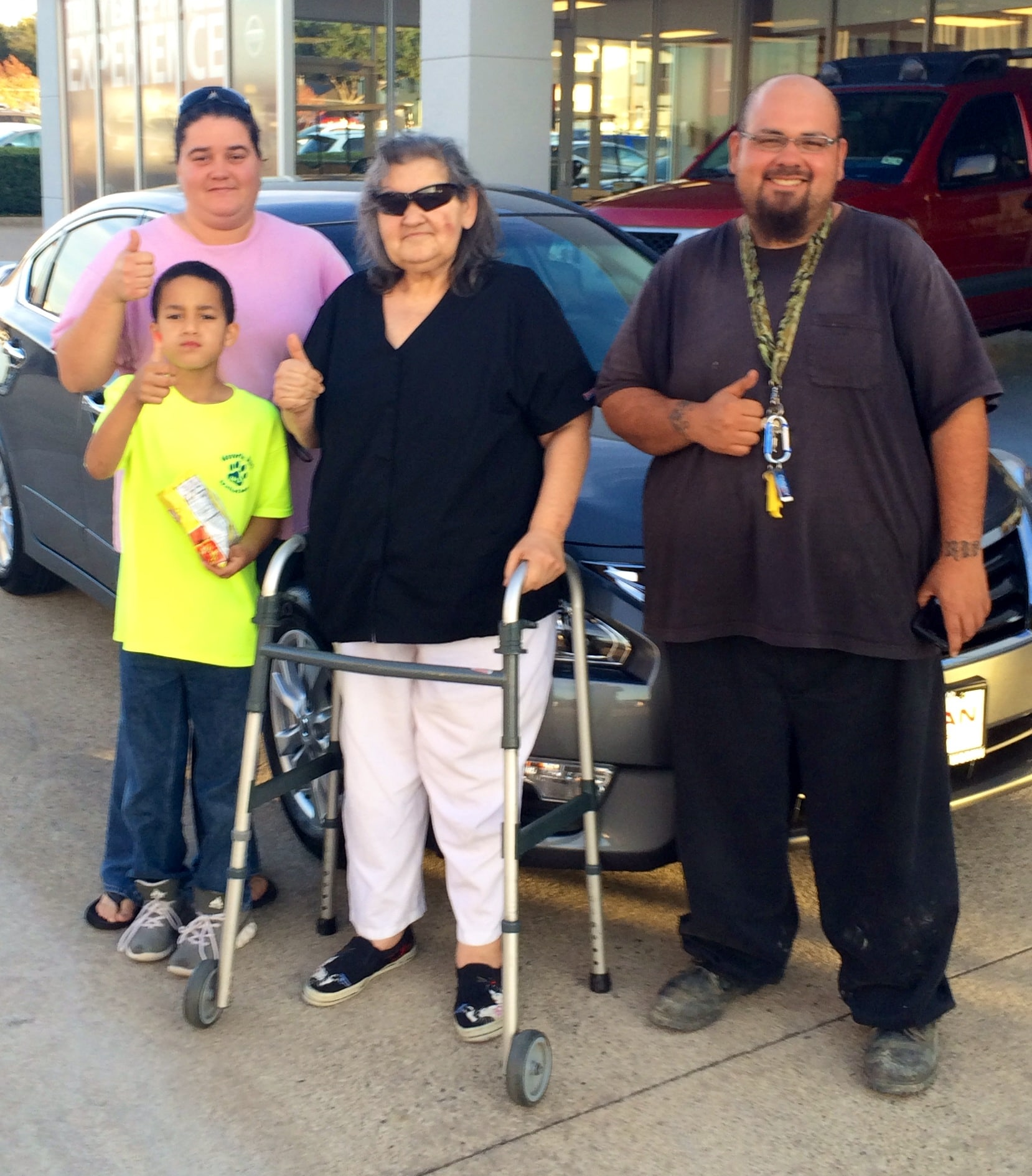 Check out this cool family at Fort Worth Nissan close by Dallas, TX.