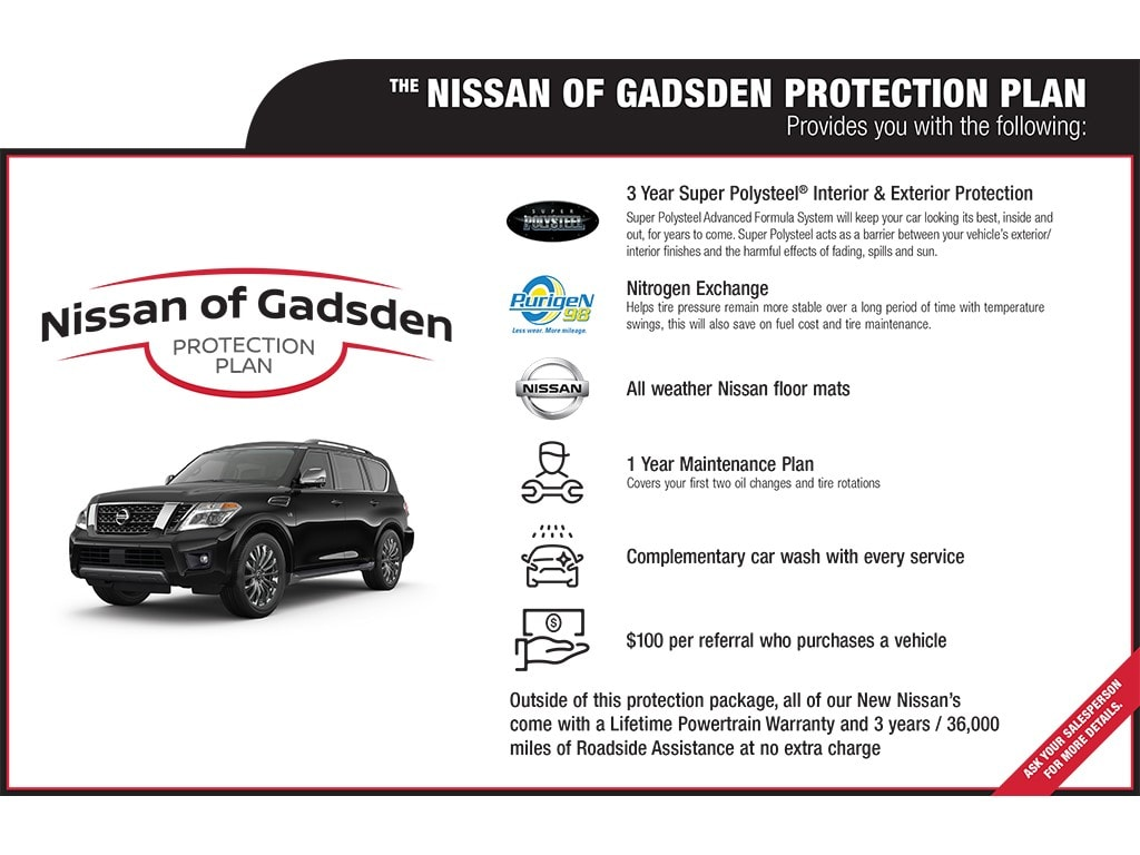 Nissan of Gadsden Protection Plan