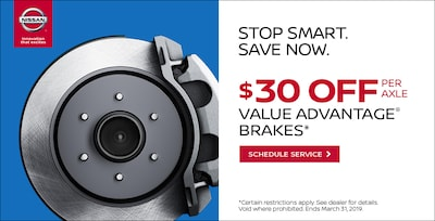 Nissan Value Advantage® Pads and Rotors Special