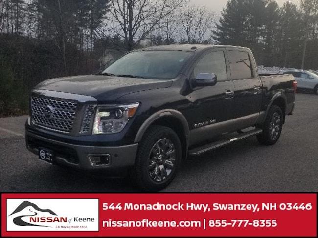2018 Nissan Titan Platinum Reserve Truck Crew Cab [B10, -B13, PLA, B13, G41, C03, G01, -K12, K12, P-0, -Z66, B92, MD1, Z66, SG2] For Sale in Swazey, NH