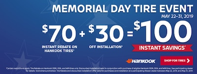 MEMORIAL DAY TIRE EVENT 5/22-5/31, 2019