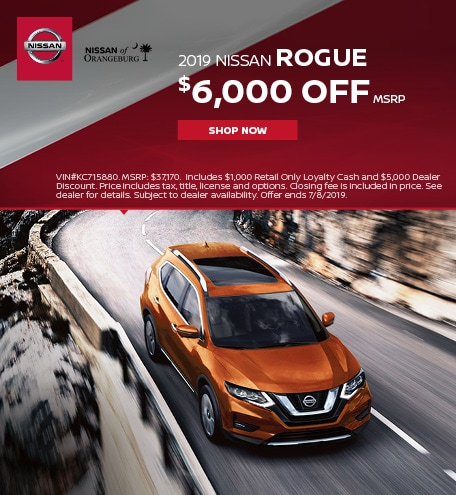 2019 Nissan Rogue June Offer