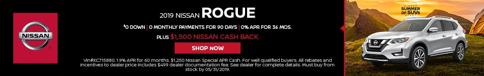 2019 Nissan Rogue May Offers