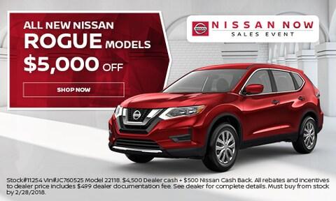 All New Nissan Rogue Models