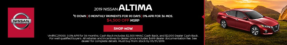 2019 Nissan Altima May Offer