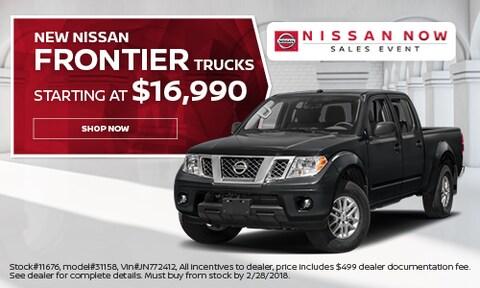 New Nissan Frontier Trucks