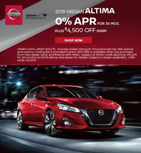 2019 Nissan Altima June Offer