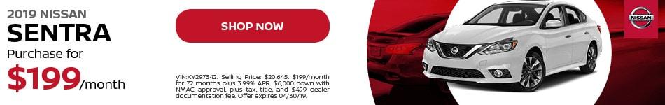 2019 Nissan Sentra APR Offer