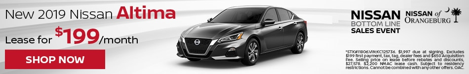 2019 Altima August Offer