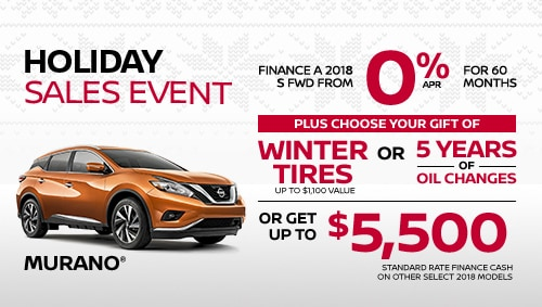 nissan murano holiday sales specials