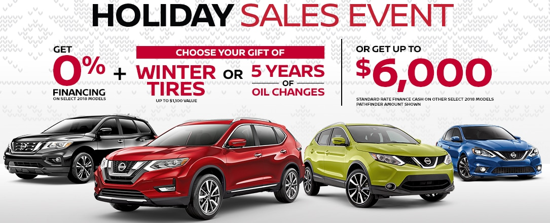 nissan holiday sales event banner