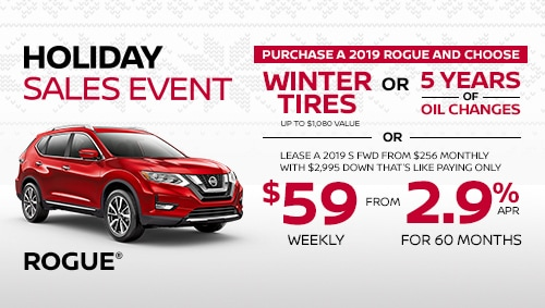 nissan rogue holiday sales specials