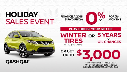 nissan qashqai holiday sales specials
