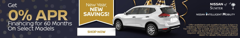 Get 0% APR Financing for 60 Months On Select Models