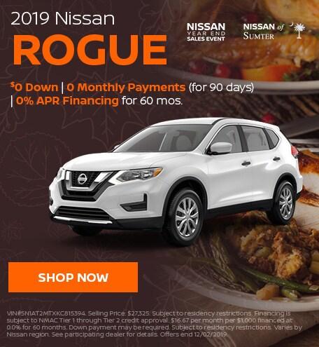2019 Nissan Rogue November Offer