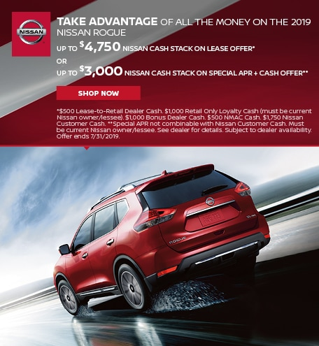 2019 Nissan Rogue Cash Stack Offer
