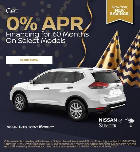 Get 0% APR Financing for 60 Months On Select Models