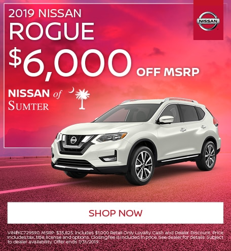 2019 Nissan Rogue July Offer