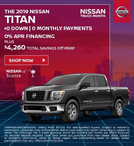 2019 Titan September Offer