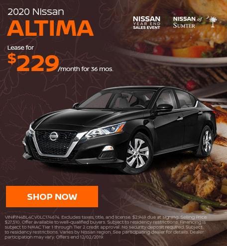 2020 Nissan Altima November Offer