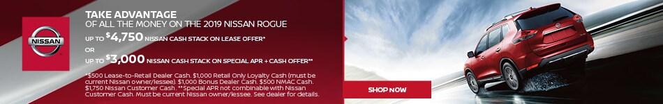 2019 Nissan Rogue Cash Stack June Offer