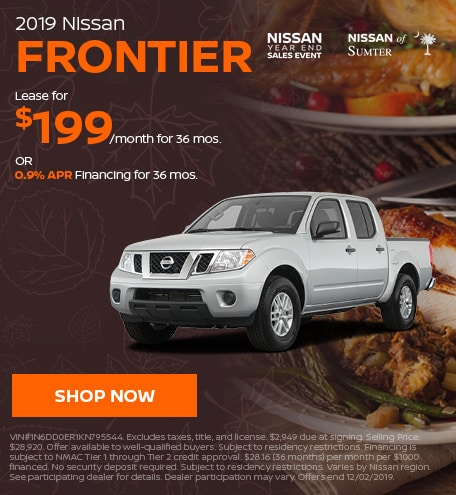 2019 Nissan Frontier November Offer
