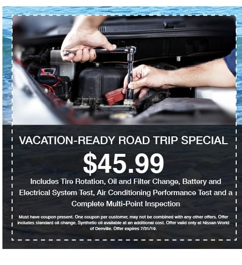 Service Specials & Coupons  Save money at Nissan World of