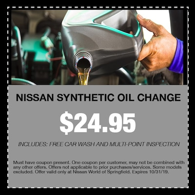 Nissan Synthetic Oil Change